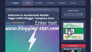 Amp blogger template 2019