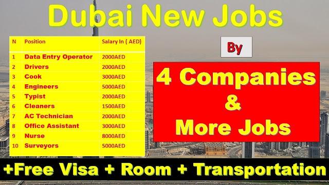 Jobs In Dubai By 4 Companies & More Latest Jobs 2020