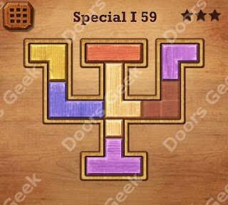 Cheats, Solutions, Walkthrough for Wood Block Puzzle Special I Level 59