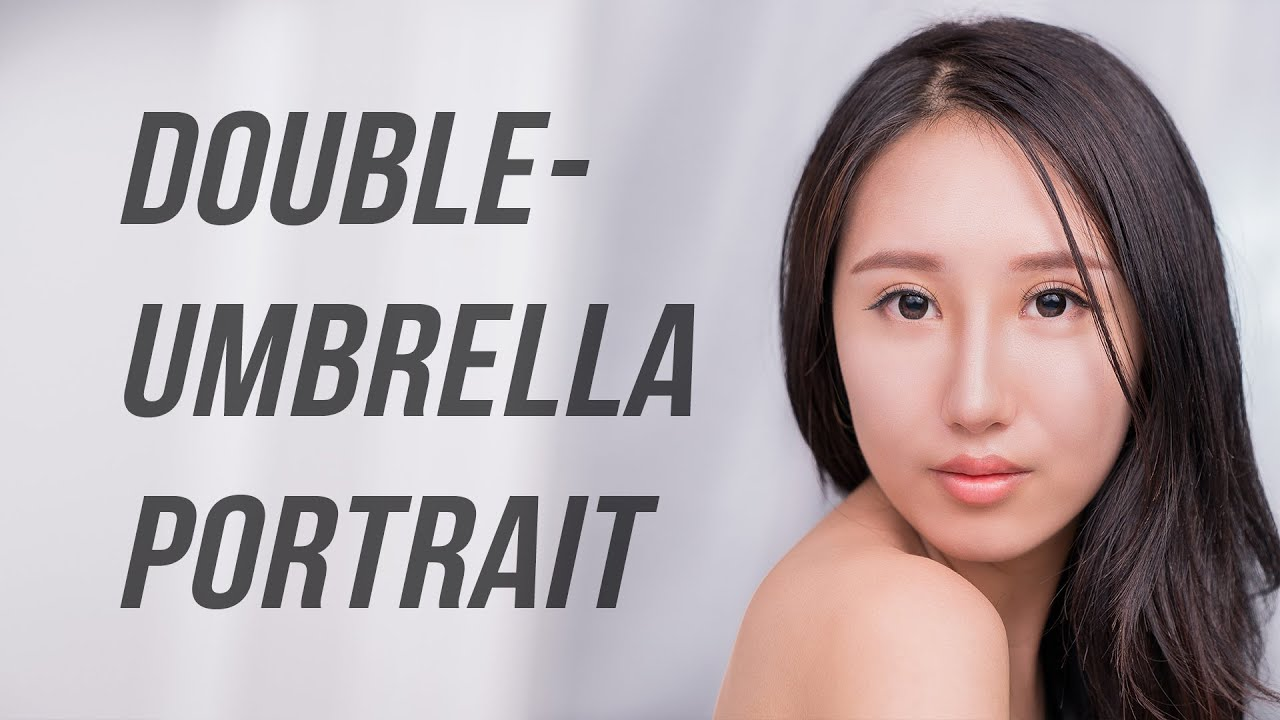 Double Umbrella Lighting with Speedlights for Female Beauty Portrait Photography