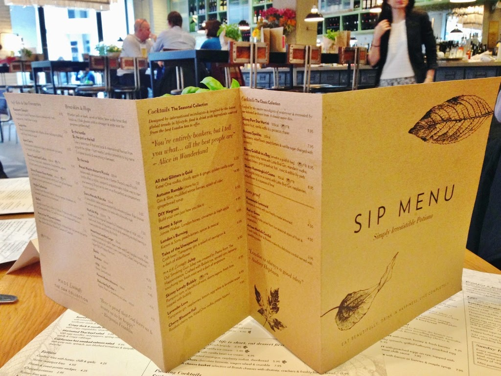 happenstance sip menu