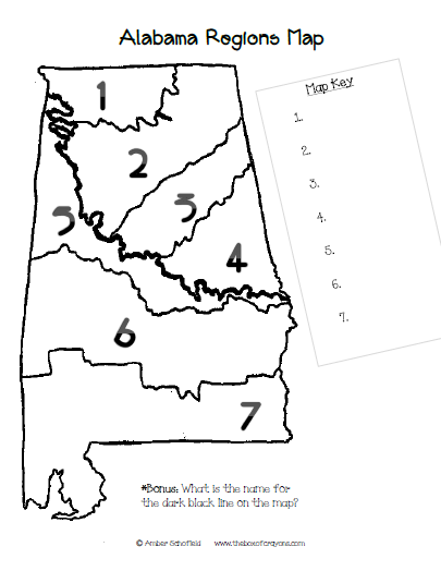 The Box of Crayons Blog: Alabama Regions Map: At-Home Project