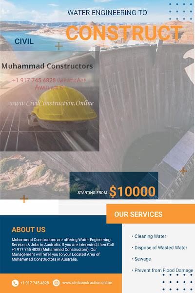 Water Engineering Services in Dandenong, Australia, Muhammad Constructors - Call +1 (917) 745-4828