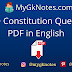 1500+ Constitution Questions PDF in English