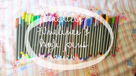 Staedtler Triplus Fineliner and Muji pens REVIEW