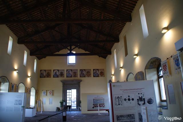 L'aula del conclave di Viterbo dove si è tenuto il primo conclave della storia