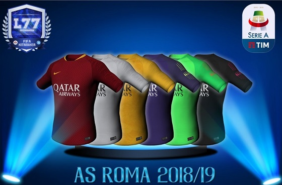 اطقم فريق اي سي روما كامله محدثة 2019 لفيفا 16