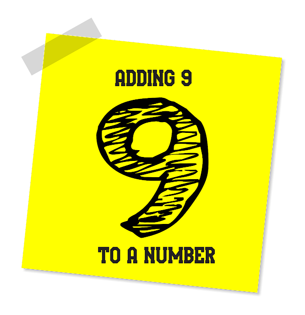 Adding 9 to a number
