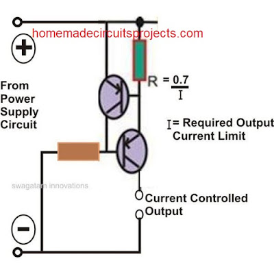 current limiter using PNP transistors