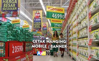 Tempat Jasa Cetak Hanging Mobile Banner Murah di Tanah Abang, Jakarta Pusat