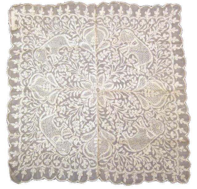 Chikan embroidered handkerchief
