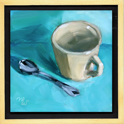 Coffee or Tea original oil painting by artist Merrill Weber