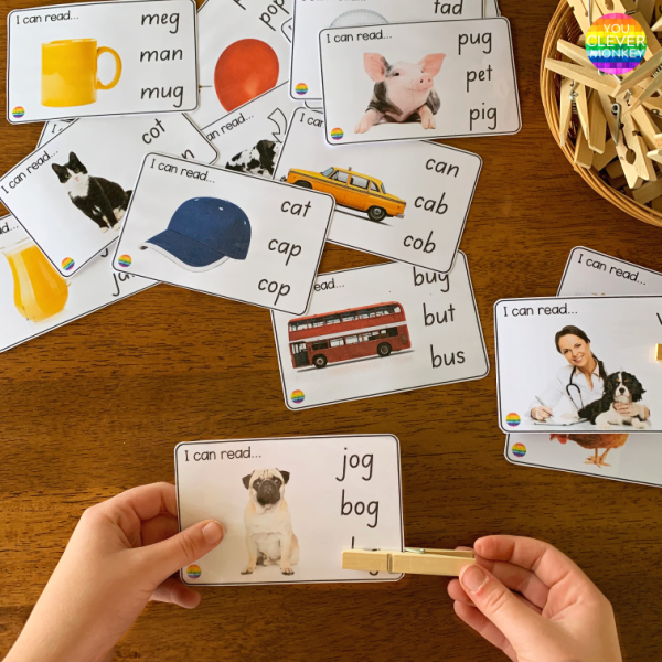 I Can Read CVC Word Cards | you clever monkey