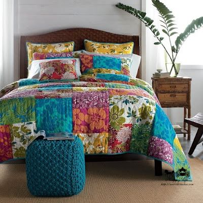 American handmade patchwork quilting by piece set bedding