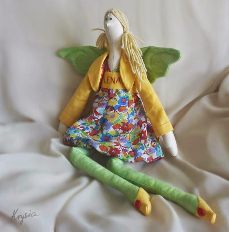 anielica tilda Lena Krysia to uszyła - spersonalizowany anioł tilda uszyty na zamówienie