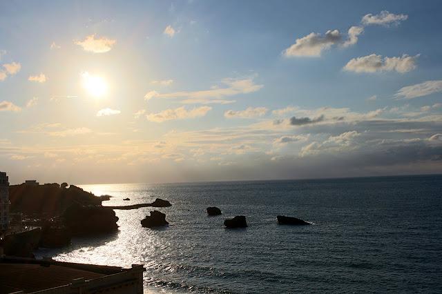Coucher de soleil sur l'Océan Atlantique, Biarritz