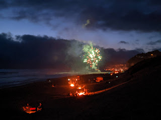Fourth of July celebrations on the beach in Pacific City.