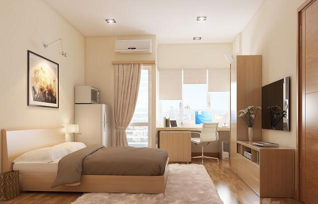 Tận dụng gam màu trung tính cho sàn gỗ phòng ngủ
