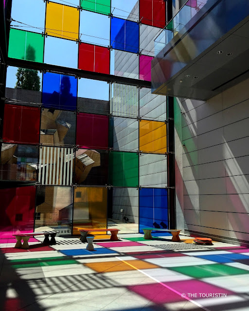 Strasbourg Museum of Modern and Contemporary Art. Work by Daniel Buren
