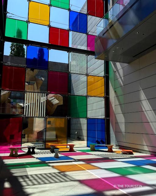 Strasbourg Museum of Modern and Contemporary Art. Work by Daniel Buren