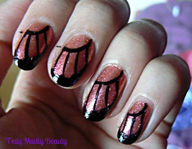 Truly Madly Beauty: NOTD - Butterfly Wing Nails & Tutorial!