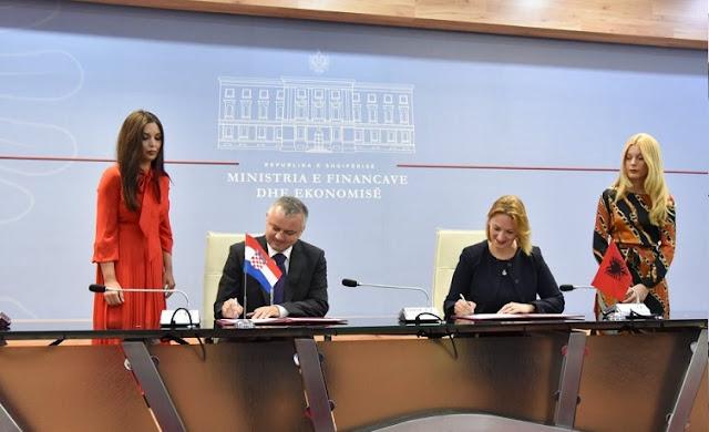 Albania-Croatia, a memorandum of cooperation signed by Horvat and Denaj for entrepreneurship support