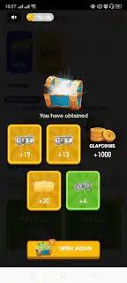 طريقة كسب المال في تطبيق ClipClaps