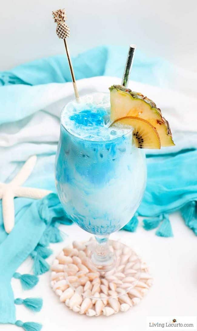 Mermaid Rum Punch #punch #drink #healthyrecipes #sangria #smoothie