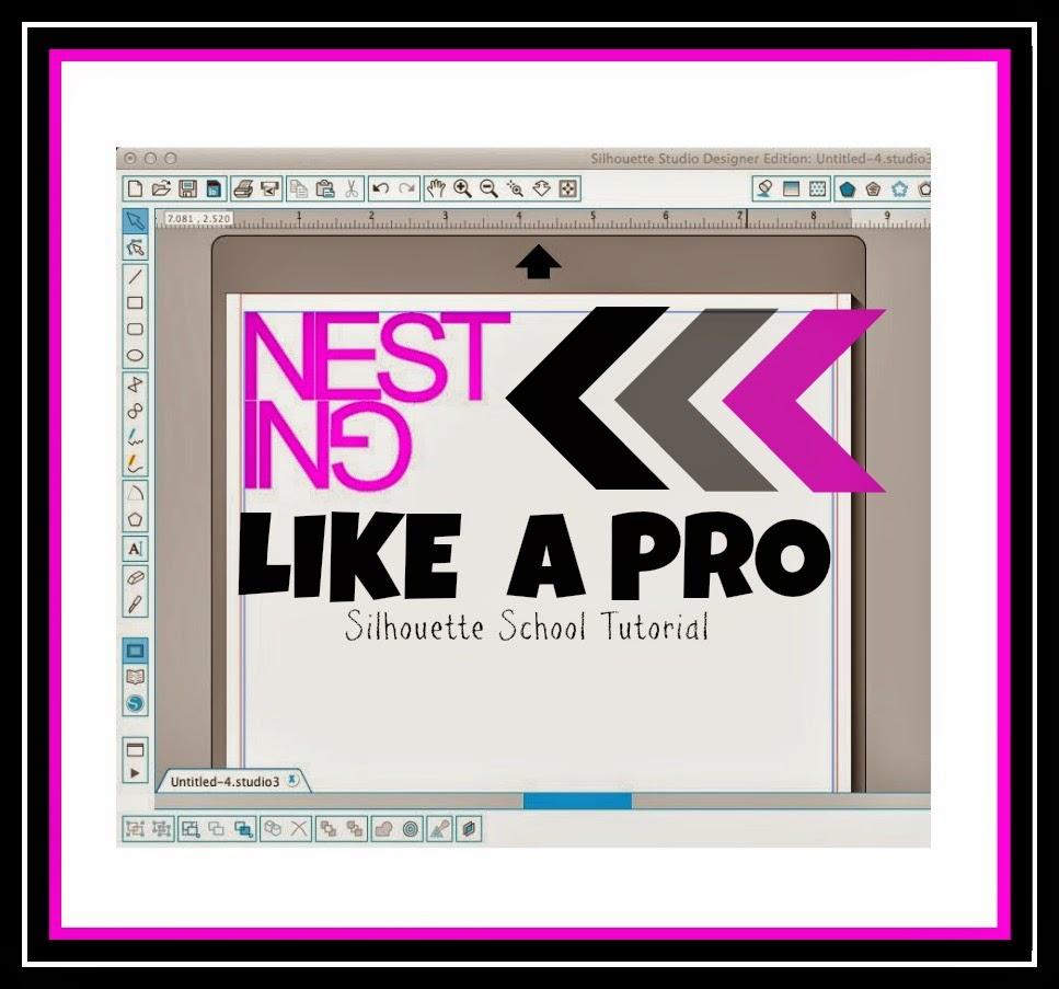 Nesting tool, Silhouette Studio, pro, Silhouette tutorial