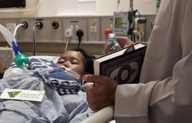 Hampir Sebulan BMI Hong Kong asal Brebes ini Terbaring Koma di Rumah sakit United Christian