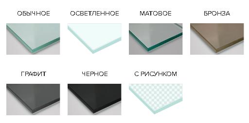 Разновидности стекла для душевых перегородок