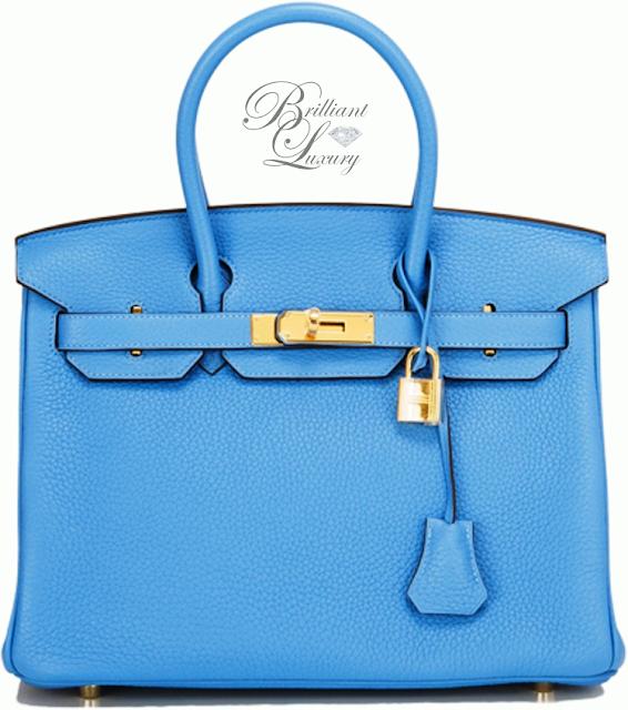 Brilliant Luxury ♦ Hermès Blue Paradise Clemence Birkin Bag