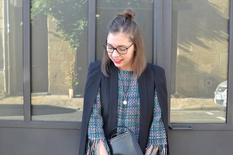robe tweed et veste noir Sheinside