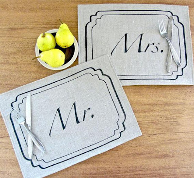 Mr. and Mrs. Placemat