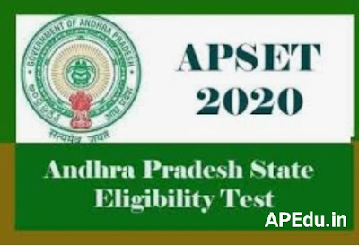 ANDHRA PRSDESH STATE ELEGIBILITY TEST (APSET 2020) ADMIT CARDS