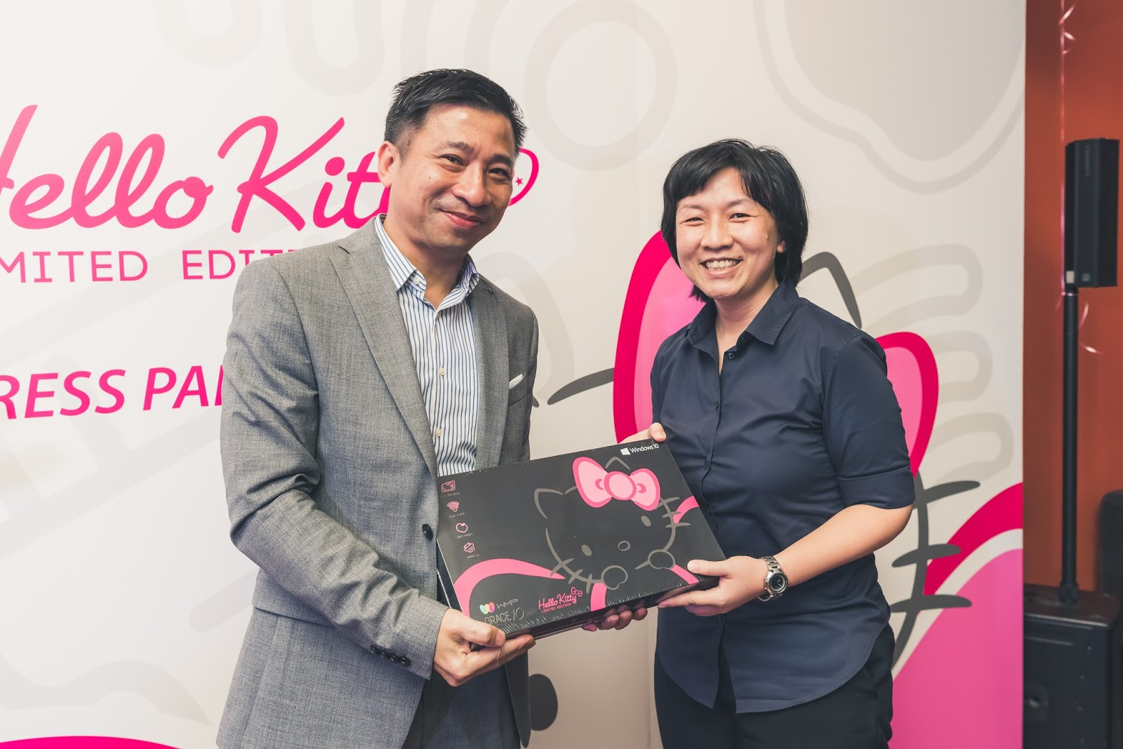 9dbb8be95 A lucky draw was held during the launch party and these are the two winners  who each walk away with the Grace 10 Light Hello Kitty Limited Edition  Windows ...