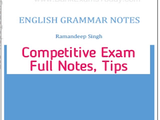 Competitive Exam English Grammar Notes