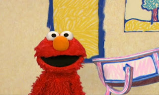 Elmo asks the audience if the drawer is here. The Drawer appears behind him and signals the audience. Elmo's World Eyes Quiz