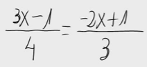14. Ecuación de primer grado (multiplicar en cruz)