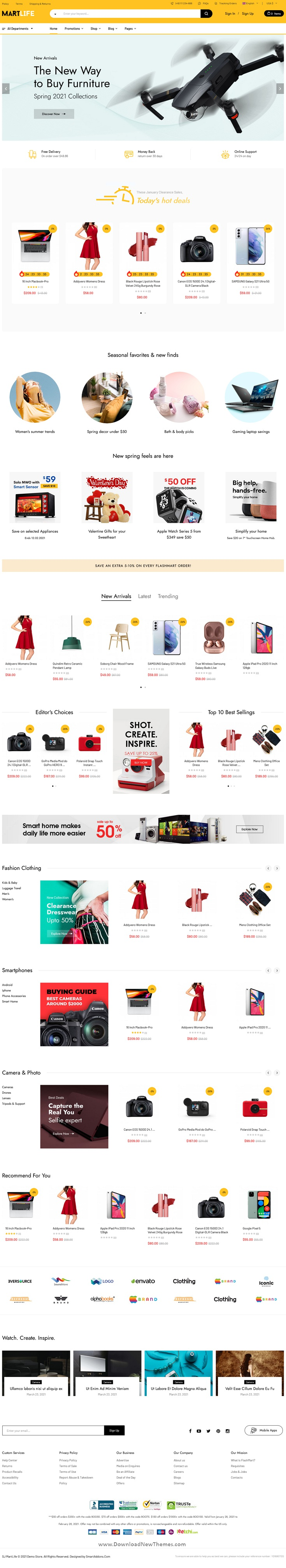 MartLife - Responsive Multipurpose eCommerce Joomla Template