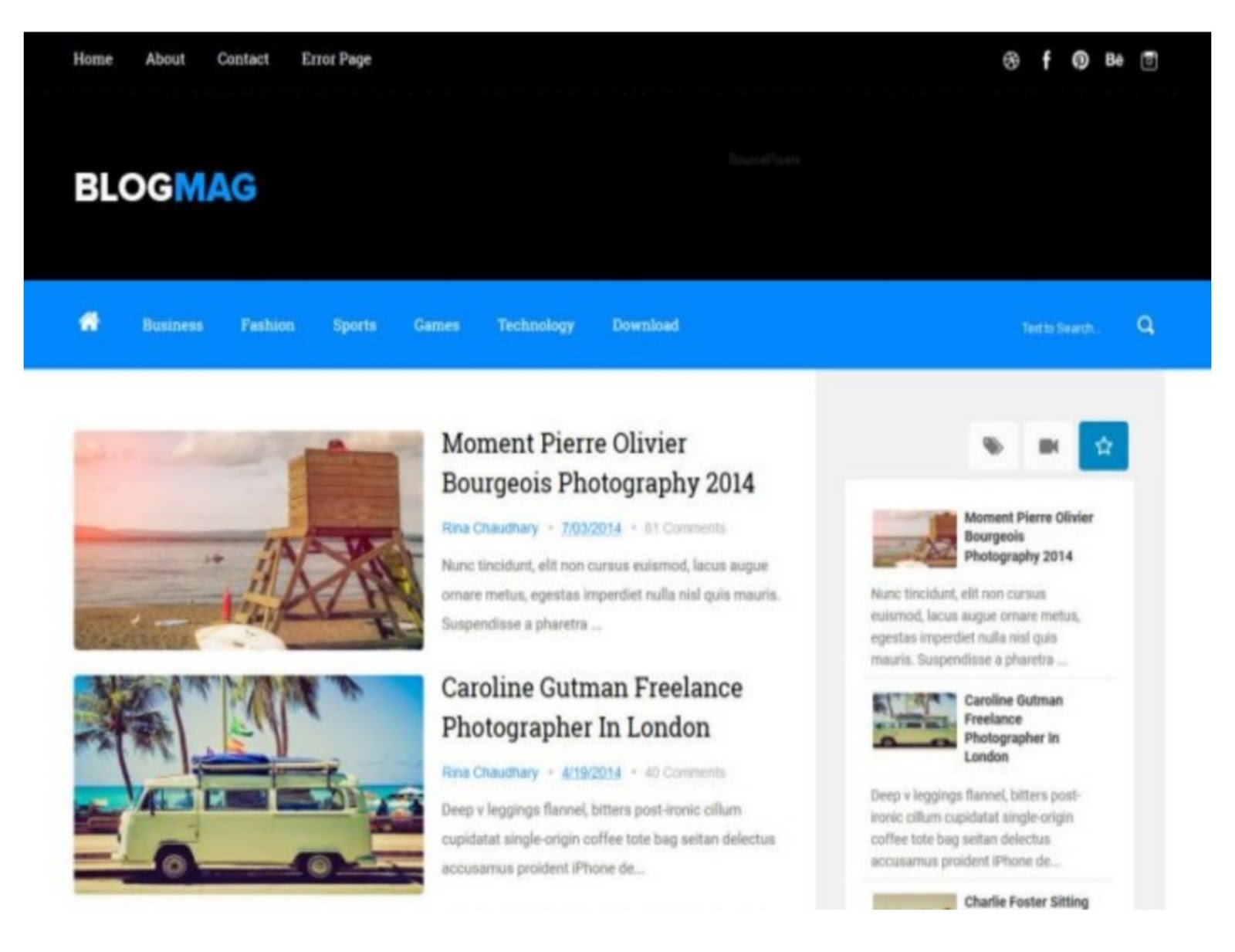 Blog Mag Blogger Template