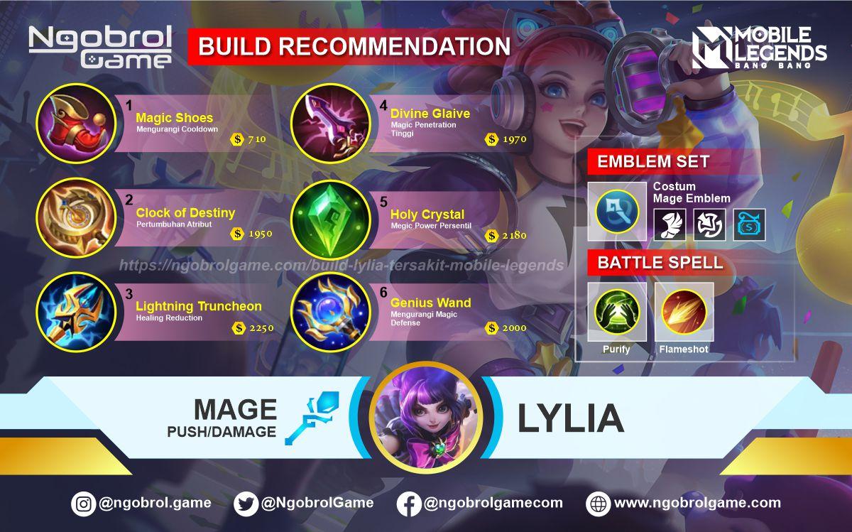 Build Lylia Tersakit 2021 Mobile Legends