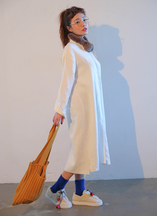 Cotton Loose Fit Shirtdress
