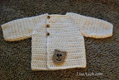 free crochet pattern for a newborn cardigan