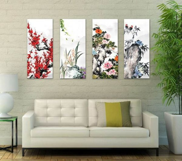 Top 5 mẫu tranh trang trí phòng khách chung cư sang trọng, cao cấp