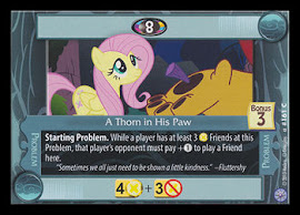 My Little Pony A Thorn in His Paw Premiere CCG Card