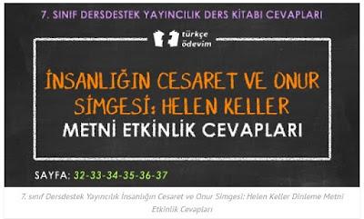 7. sınıf türkçe çalışma kitabı ders destek