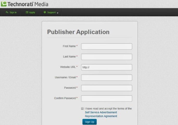 technorati publisher