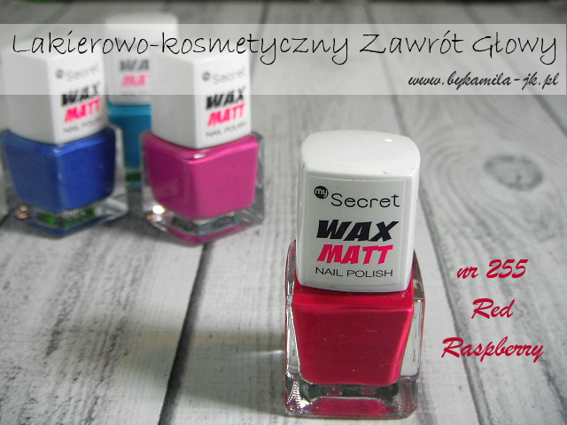 Lakiery My Secret Wax Matt Hot Raspberry