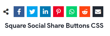 Square Social Share Buttons CSS